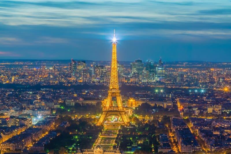 巴黎地平线,法国空中全景  库存照片