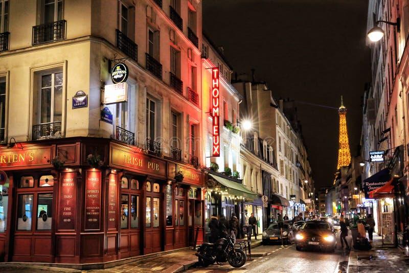 巴黎市街道看法  图库摄影