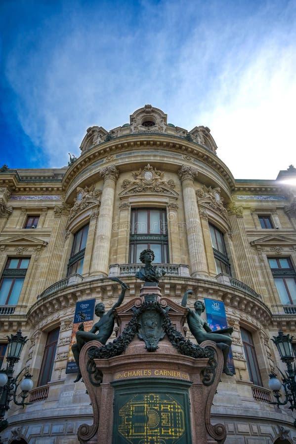 巴黎歌剧院在巴黎,法国 免版税库存图片