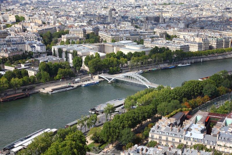 巴黎河围网 库存图片