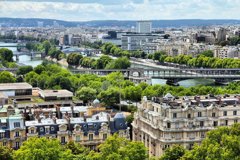 巴黎河围网 图库摄影