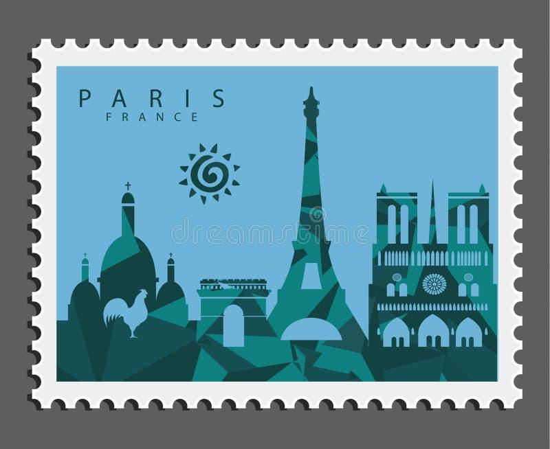 巴黎法国邮票  免版税库存图片