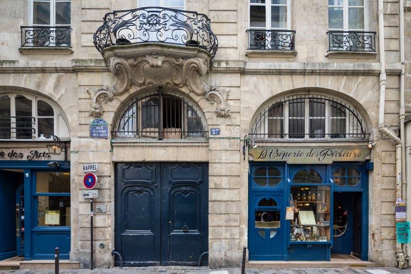 巴黎法国4月29日2013法语专门研究fis的Creperie 图库摄影