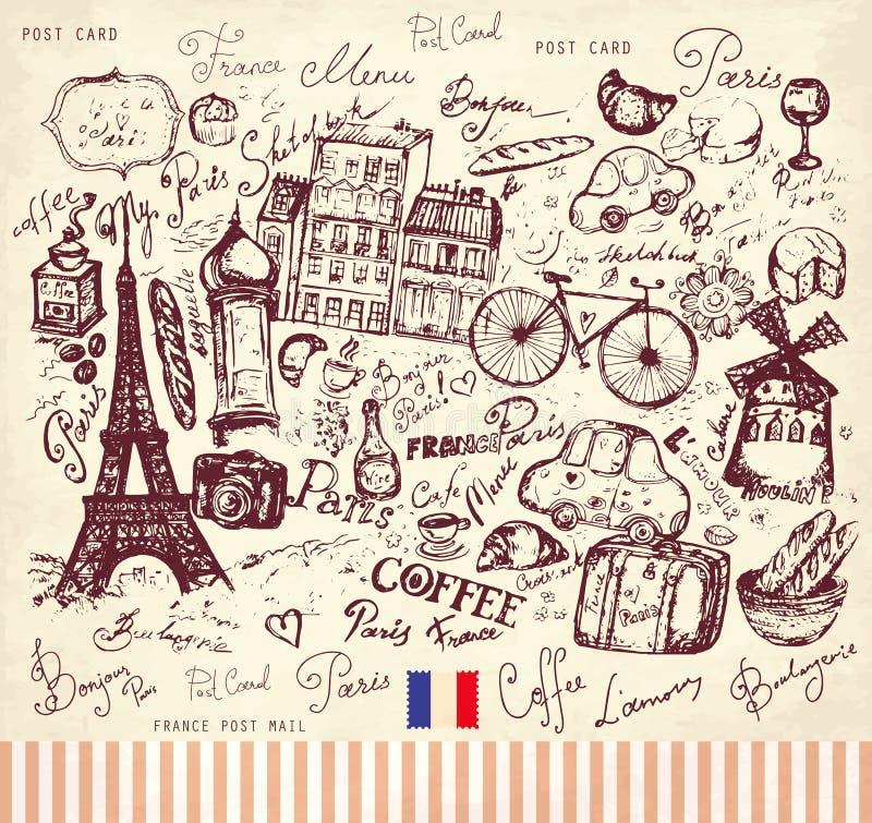 巴黎符号 皇族释放例证