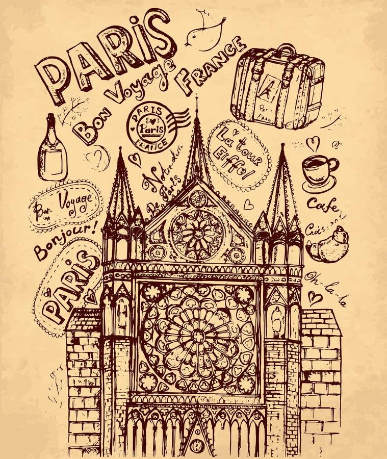 巴黎符号 库存例证