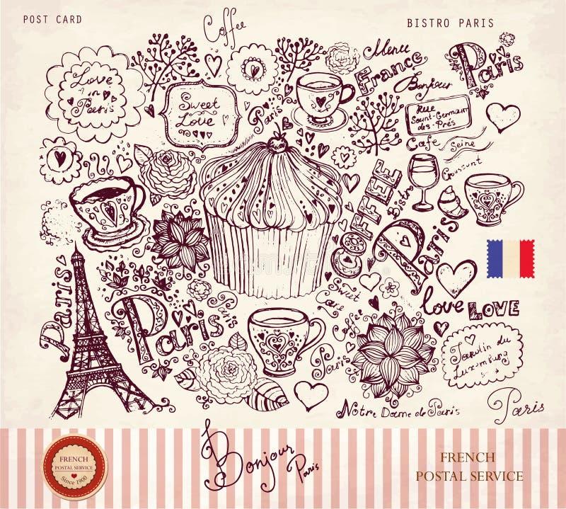 巴黎符号 向量例证