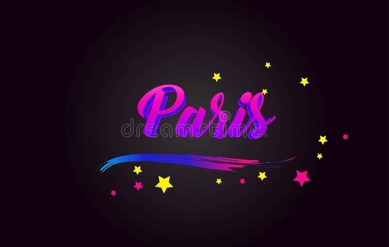 巴黎紫色手写的在上写字的印刷术 r 向量例证