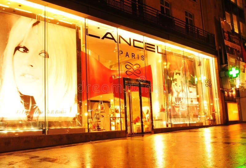 巴黎购物 免版税图库摄影
