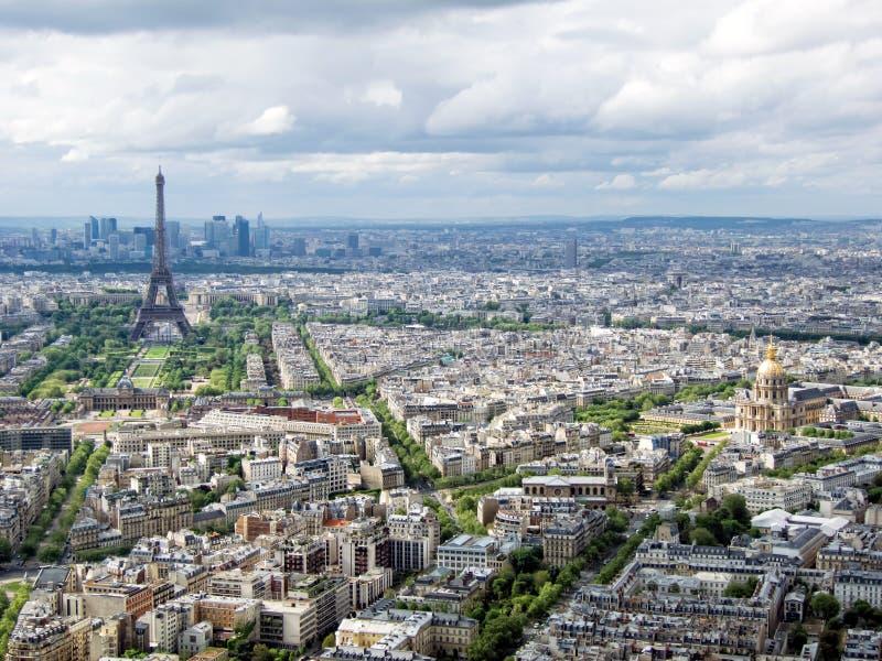 巴黎都市风景  库存图片