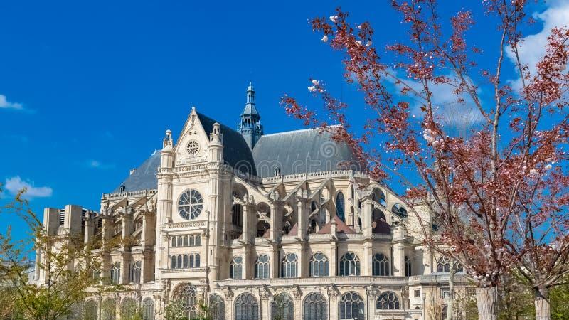 巴黎,圣厄斯塔什教堂教会 库存照片