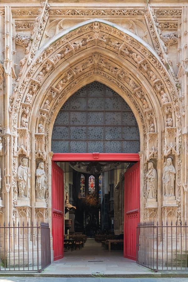 巴黎,圣徒Merri教会 库存图片