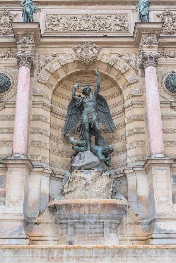 巴黎,圣米舍 库存图片