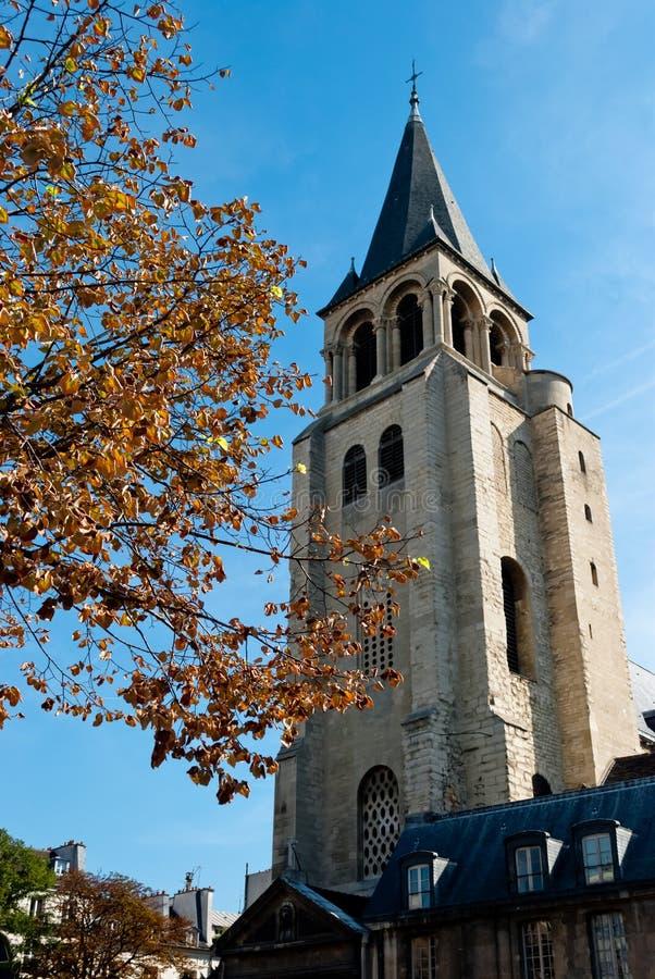巴黎,圣Germain des Prés教会 免版税图库摄影