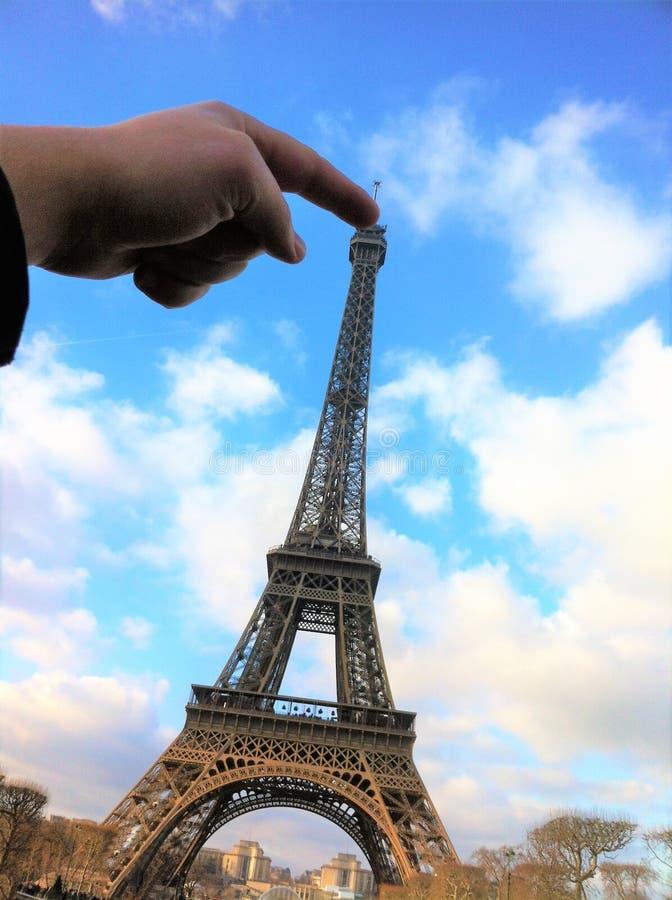 巴黎,法国- 2014年12月30日:埃菲尔铁塔 库存照片