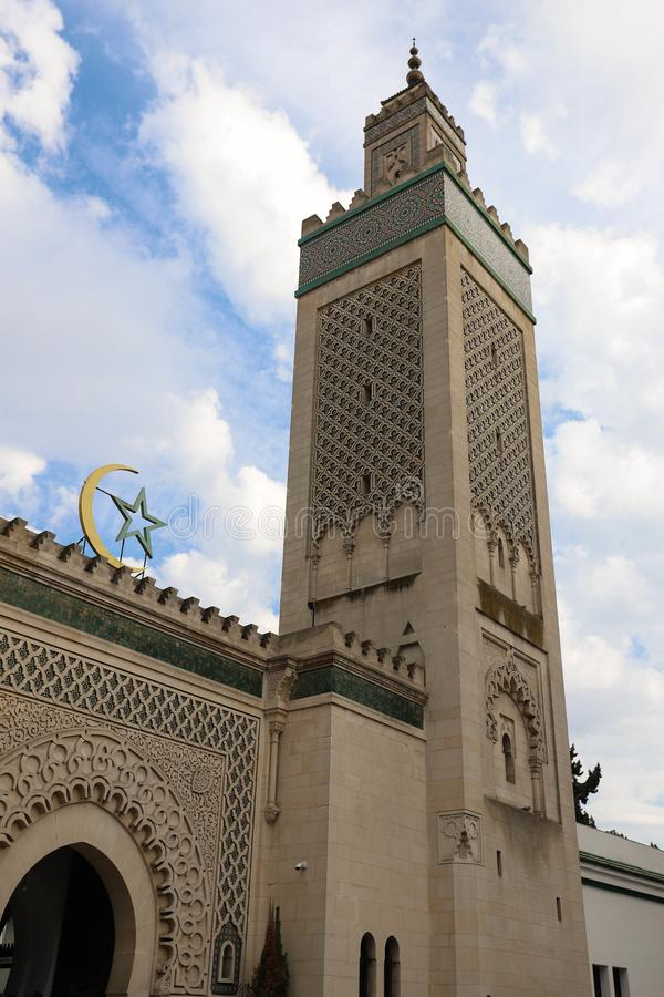 巴黎-回教寺庙清真大寺在法国 库存照片