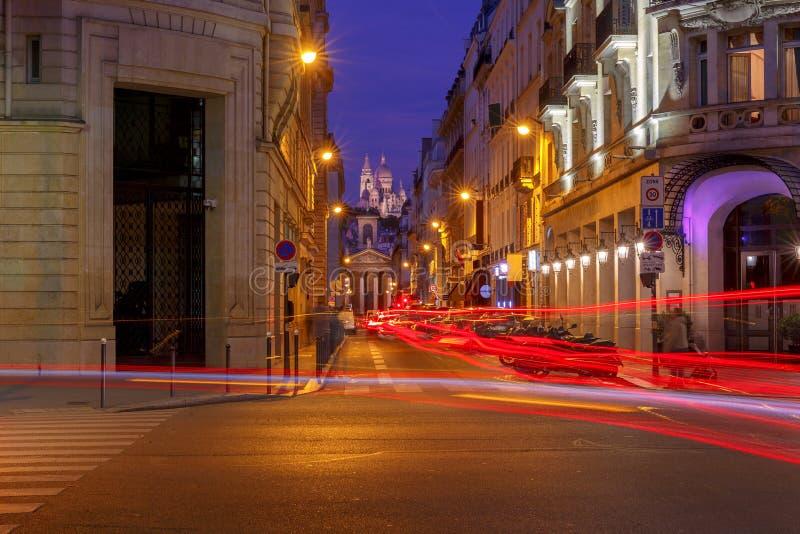 巴黎 大教堂Sacre Coeur 免版税库存图片