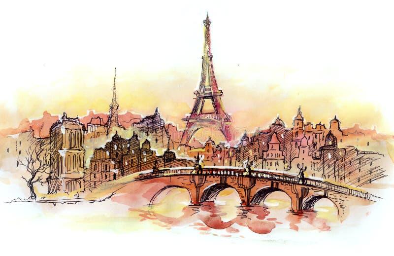 巴黎 向量例证