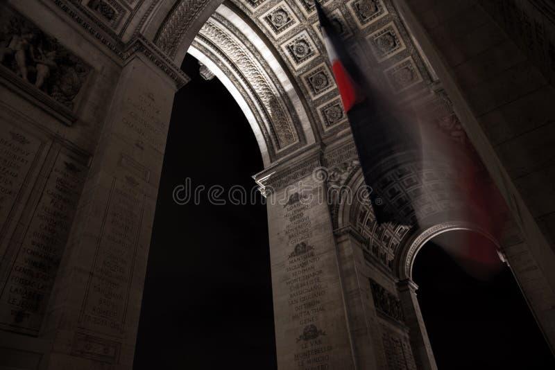 巴黎arc de triumph 免版税库存图片