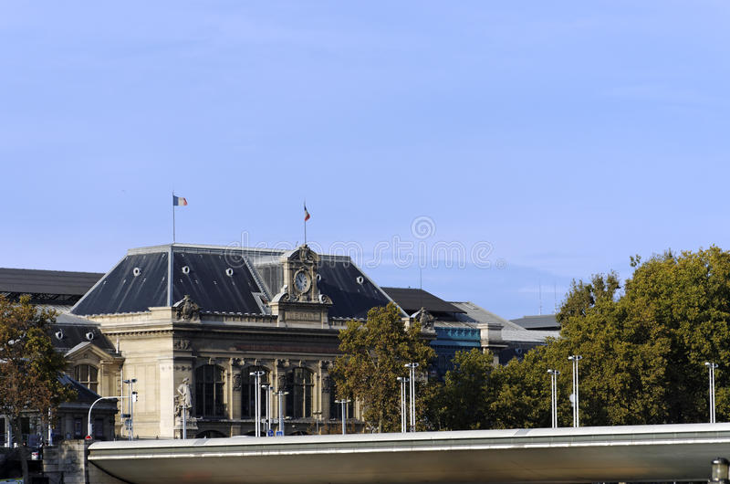 巴黎Austerlitz火车站 免版税库存图片