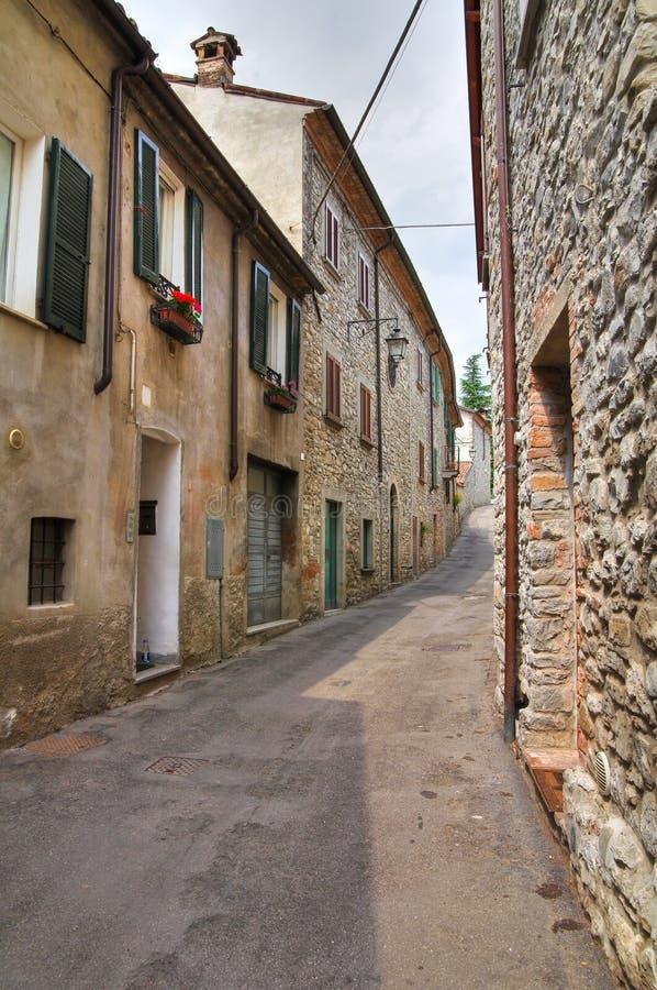 巷道。博比奥。伊米莉亚罗马甘。意大利。 库存图片