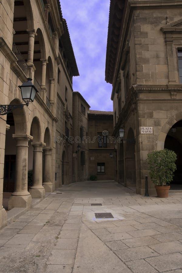 巷道老巴塞罗那 免版税库存照片