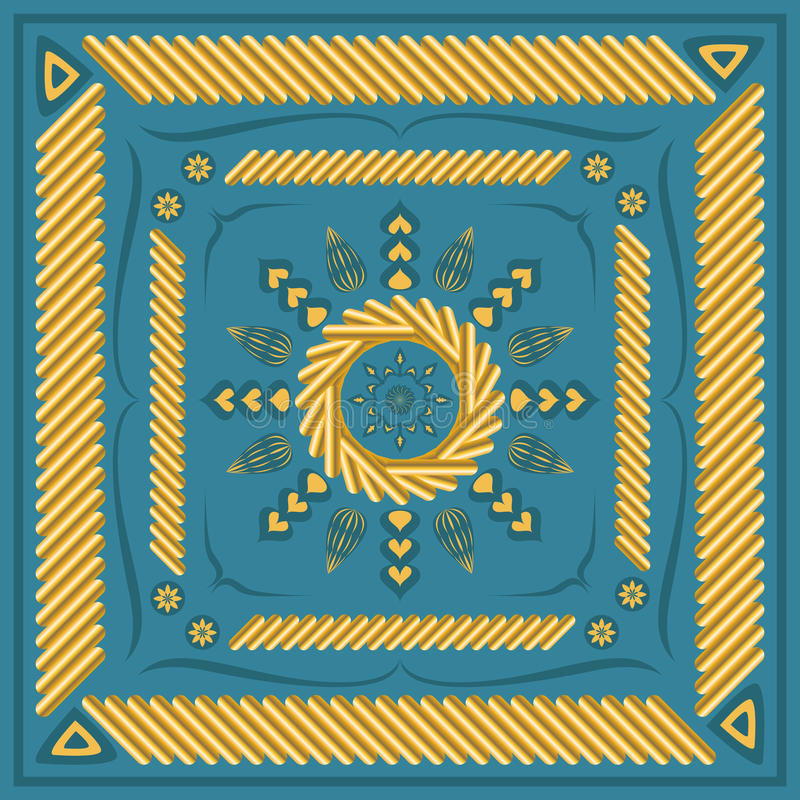 围巾样式 皇族释放例证