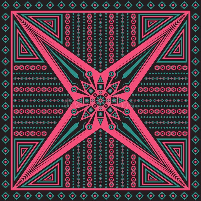 围巾样式 向量例证