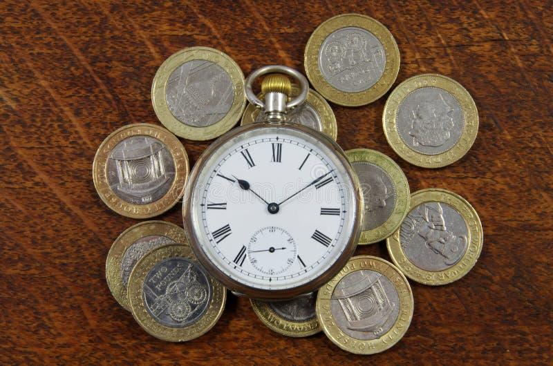货币和时间 库存图片