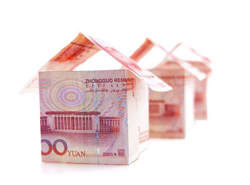 货币房子连续 免版税图库摄影
