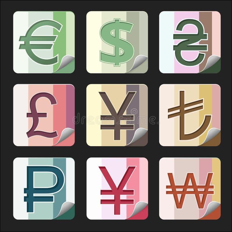 货币按钮 图库摄影