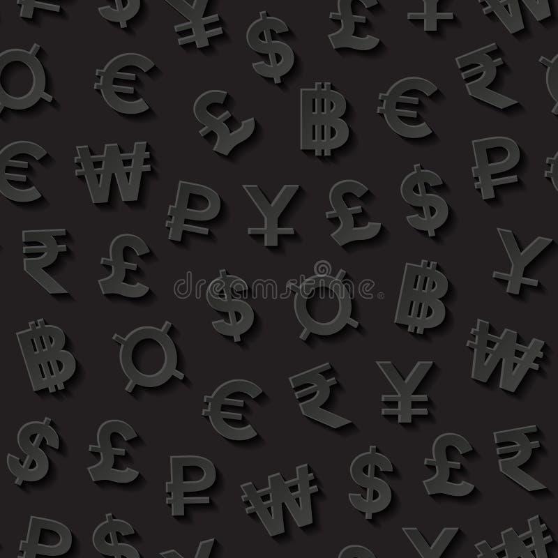 货币模式无缝的符号 皇族释放例证