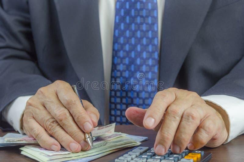 货币计数 库存照片