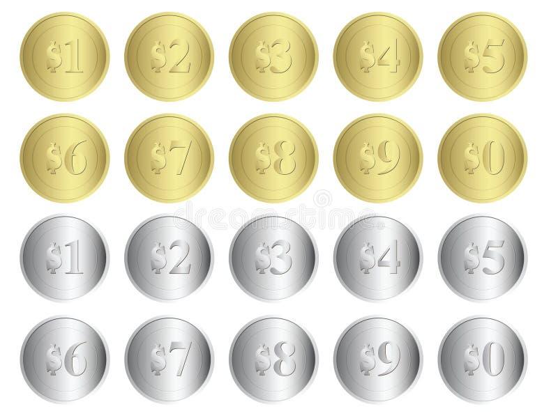 币金银 库存例证