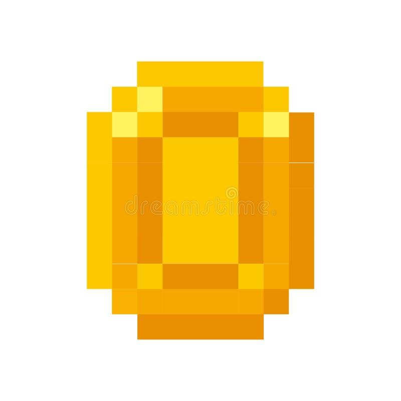 币金pixelated象 向量例证
