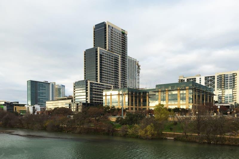 市中心区域在奥斯汀,得克萨斯 免版税库存照片
