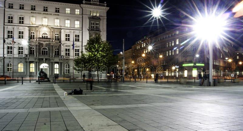 市中心在晚上 图库摄影