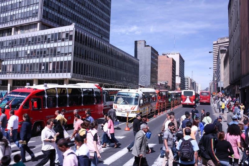 市中心在波哥大,哥伦比亚 库存照片