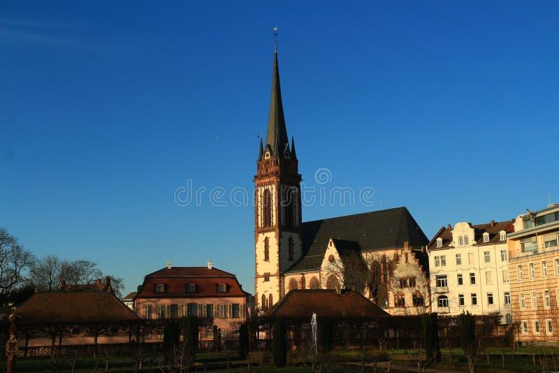 市中心在达姆施塔特,德国 库存图片