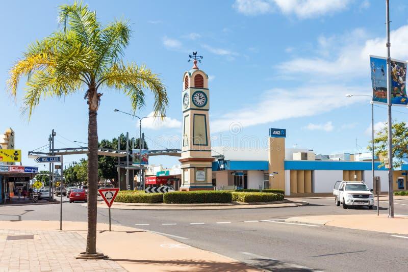 市中心的钟楼 库存图片