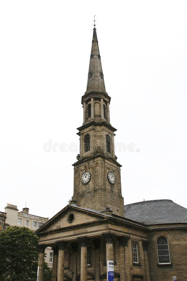 市中心,中心在老镇爱丁堡,苏格兰,英国 免版税图库摄影