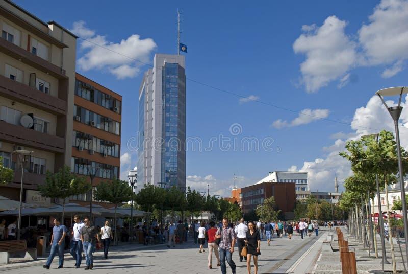市中心,普里什蒂纳,科索沃 免版税库存照片