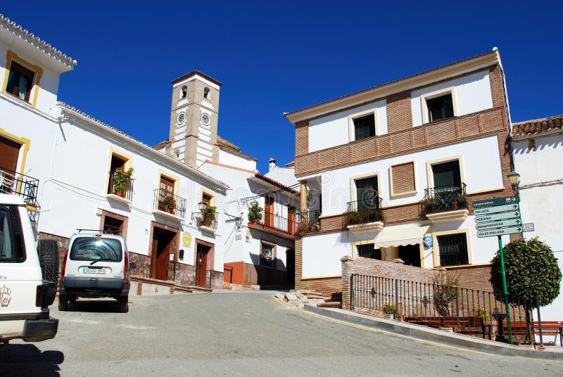 市中心,里约戈登,西班牙。 库存图片
