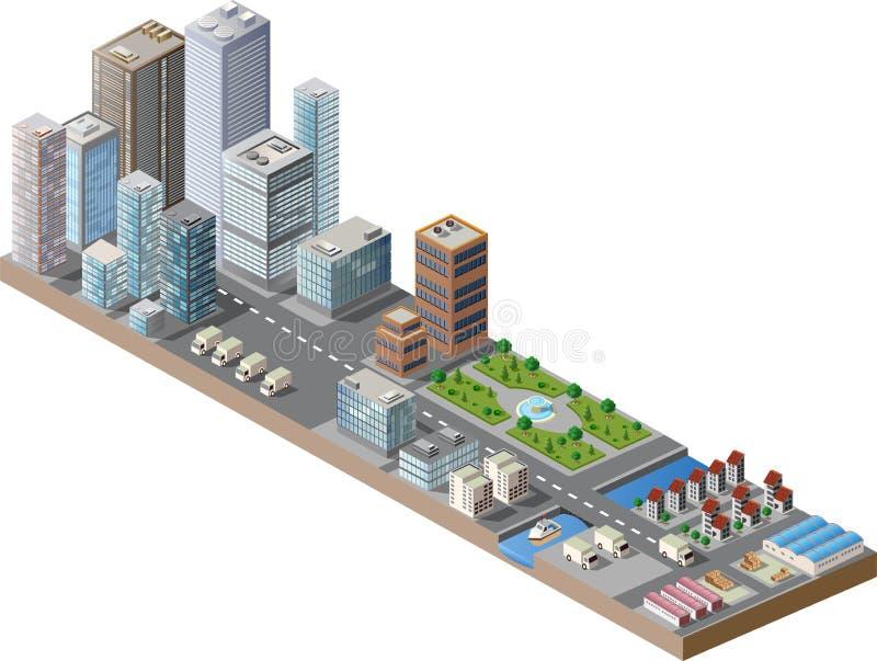 市中心 向量例证