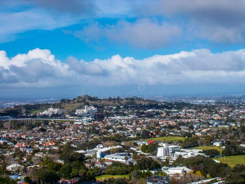 市从登上伊甸园,登上伊甸园,奥克兰,新西兰的奥克兰 免版税库存图片