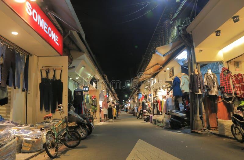 吴市分Pu便装销售购物的台北台湾 免版税库存照片