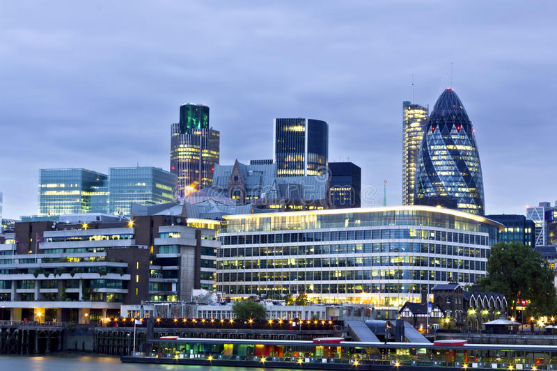 市区财务伦敦 库存照片