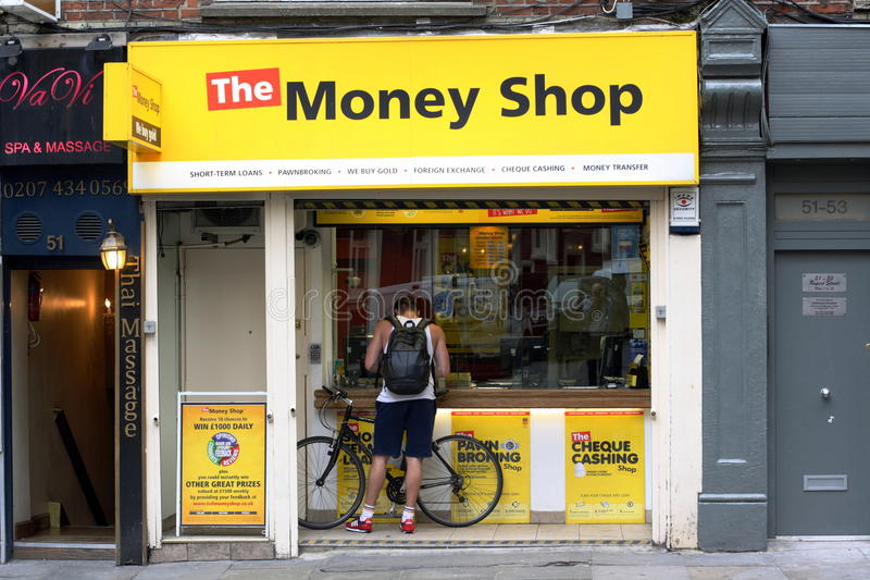 市商业中心的金融机构-伦敦苏豪区,伦敦 免版税图库摄影
