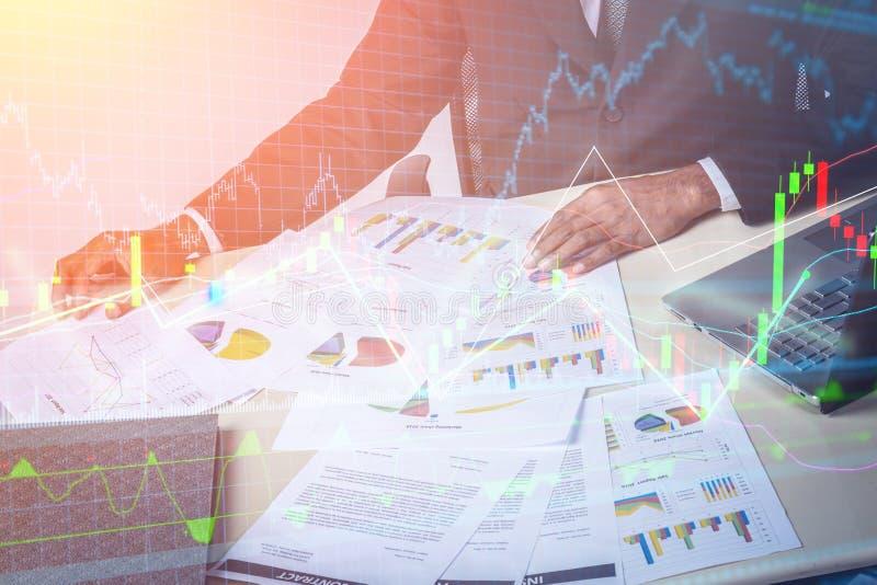 市场分析队会议概念 免版税库存照片