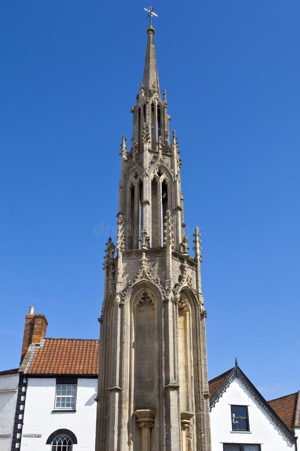 市场十字架在格拉斯顿伯里 库存图片