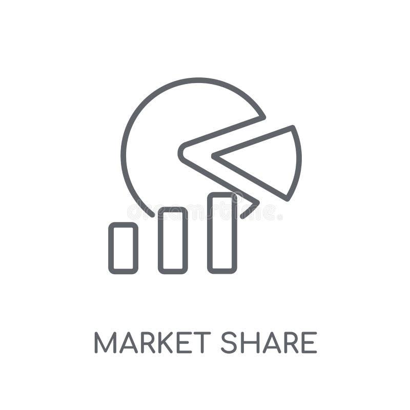 市场占有率线性象 现代概述市场占有率商标conce 皇族释放例证